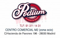Podium Sports Bar, restaurante para niños en Madrid